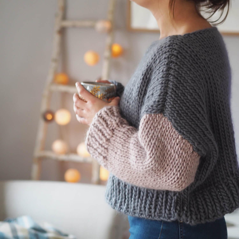 Beginners Boat Neck Jumper Knitting Pattern Lauren Aston Designs