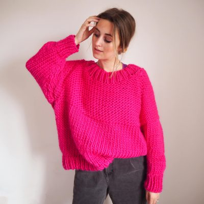 not your basic stitch jumper