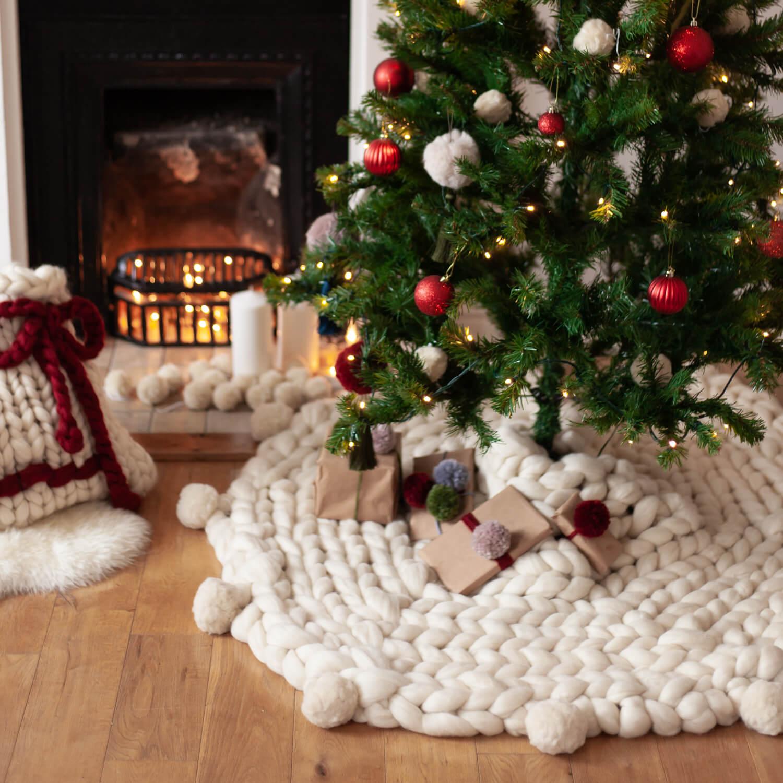 Giant Christmas Tree Skirt Knitting Pattern Lauren Aston Designs
