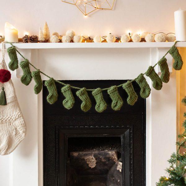 Knit Kit Mini Stocking Garland