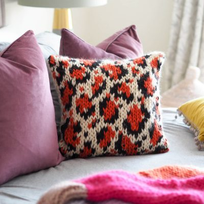 leopard print cushion