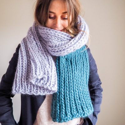 knit kit blanket scarf