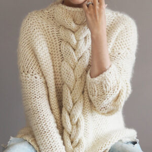 commission cable knit jumper