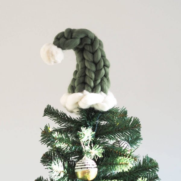 santa hat tree topper