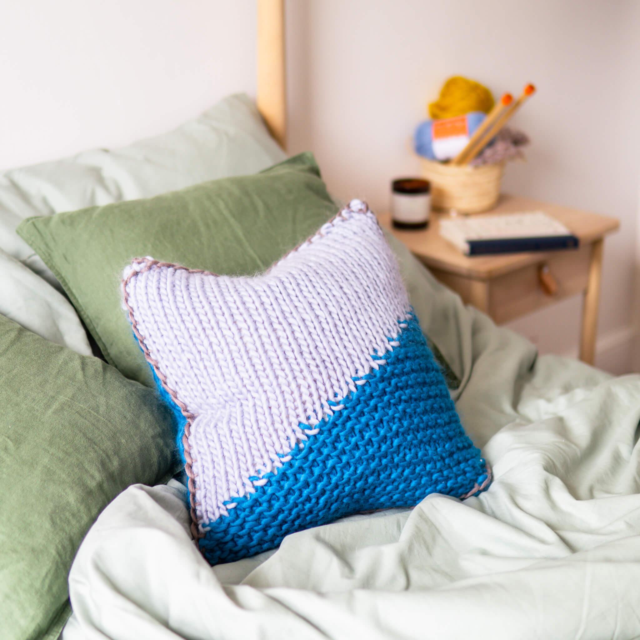 Diagonal Stitch Cushion - Knitting Pattern - Lauren Aston ...