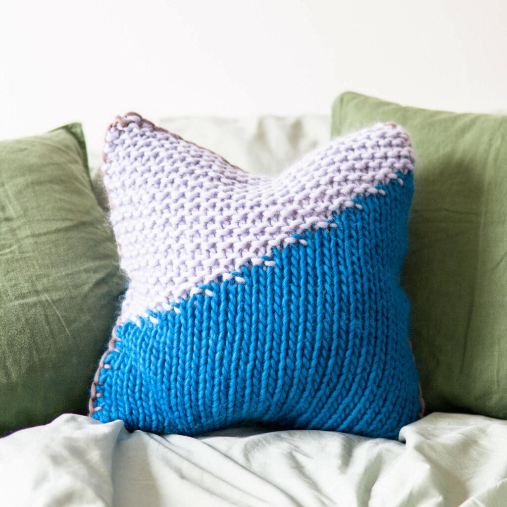 Introducing: Diagonal Stitch Cushion