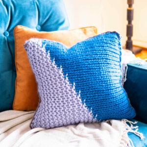 Diagonal Stitch Cushion