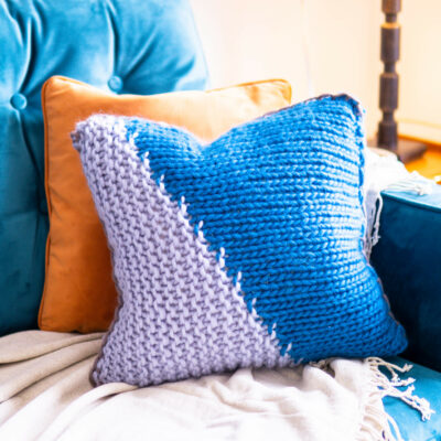 Diagonal Stitch Cushion