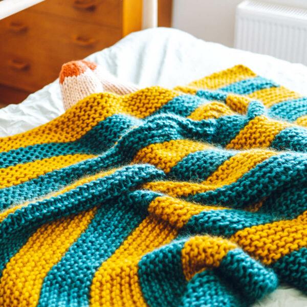 Knit Kit Beginners Blanket