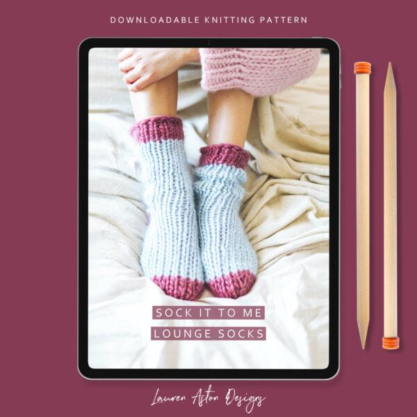 Lounge Socks knitting pattern