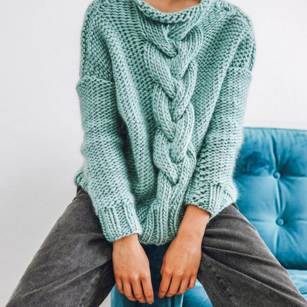 knit kit cable knit jumper