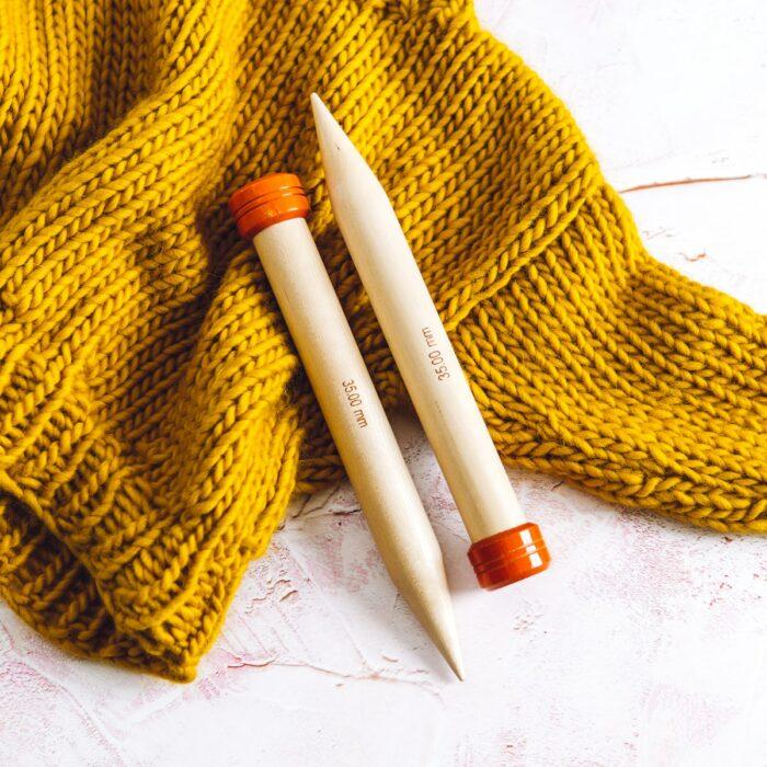 35mm knitting needles
