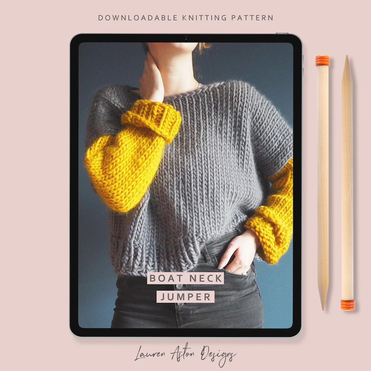 Beginners Boat Neck Jumper - Knitting Pattern - Lauren ...