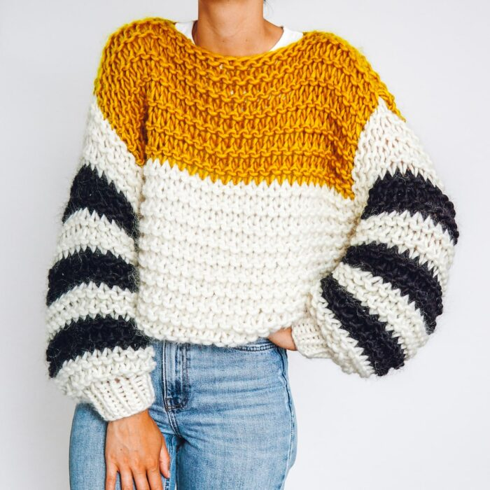 knit kit head in the clouds sweater