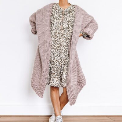 dreamy oversized cardigan knit kit