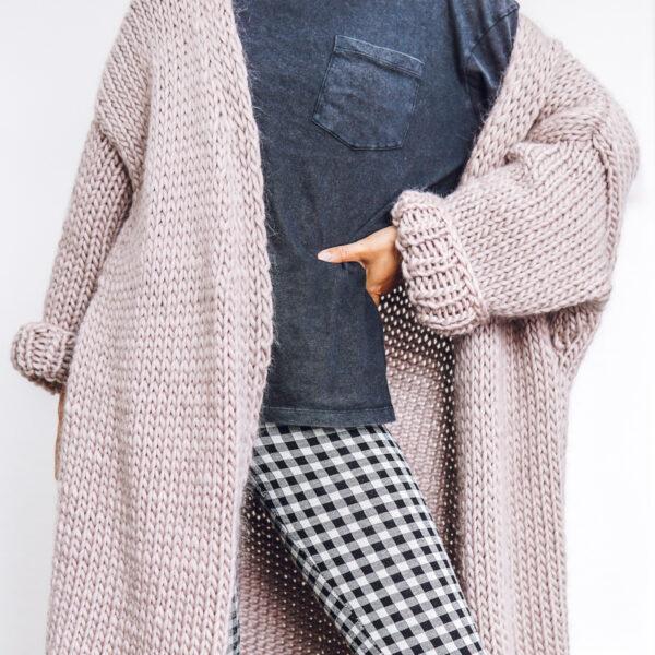 Dreamy Oversized Cardigan Knit Kit in Mink Blush By Lauren Aston Designs