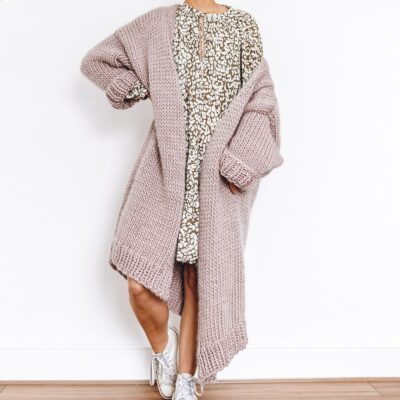 Dreamy Oversized Cardigan Knit Kit in Mink Blush By Lauren Aston Designs