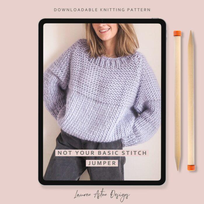 not your basic stitch jumper knitting pattern