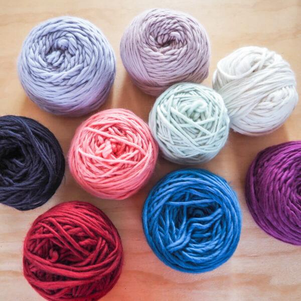 Bodged Balls of merino wool by Lauren Aston Designs