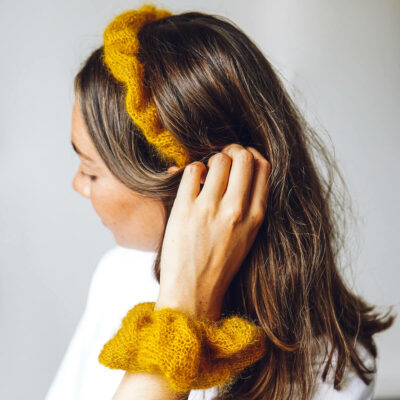 headband scrunchie set