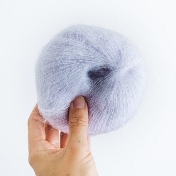 Lilac Mini Mohair knitting yarn by Lauren Aston Designs