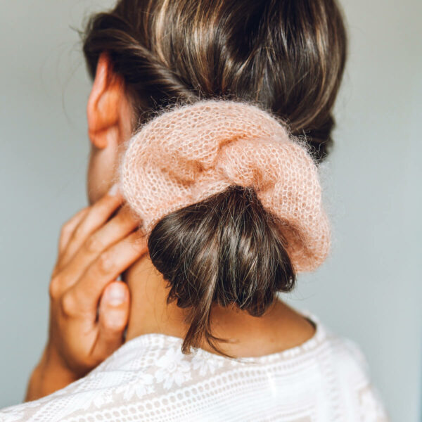 Mini Mohair Scrunchie