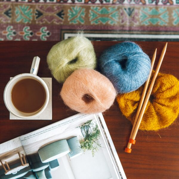 Mini Mohair knitting yarn by Lauren Aston Designs