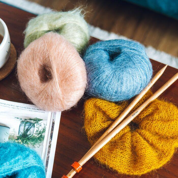 Mini Mohair knitting yarn by Lauren Aston Designs
