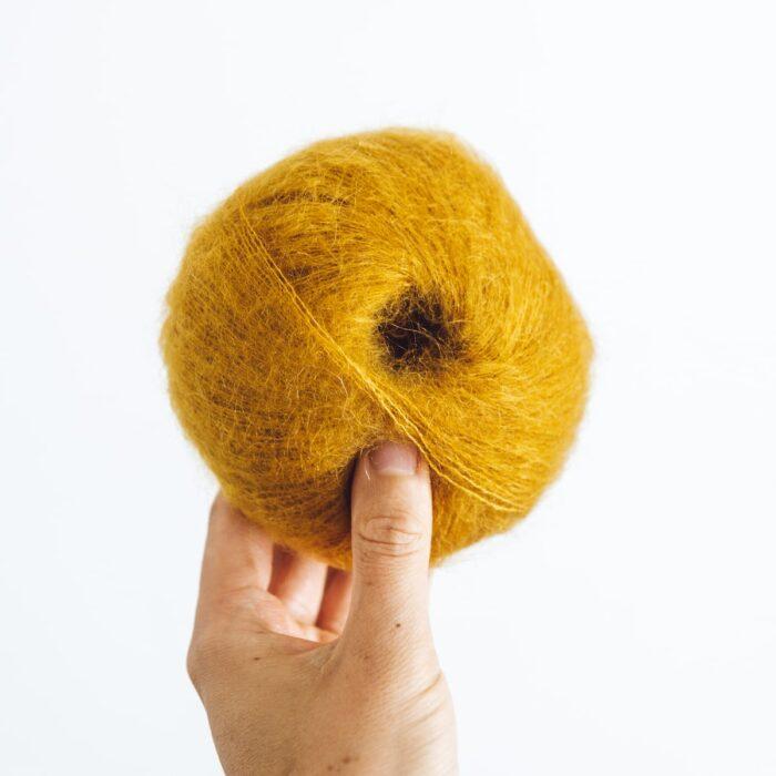 Mustard Ochre Yellow Mini Mohair by Lauren Aston Designs
