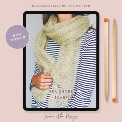 Mini Mohair Scarf Knitting Pattern