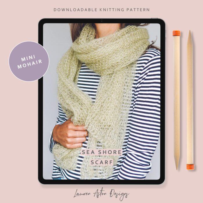Mini Mohair Scarf Knitting Pattern