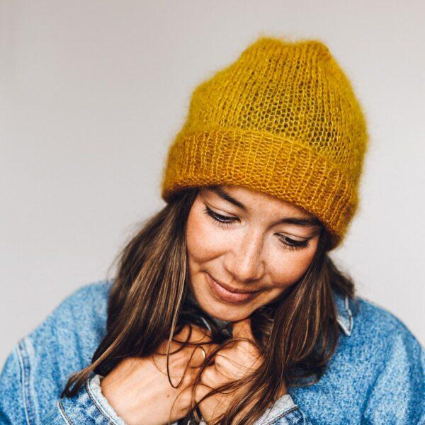 mini mohair hat