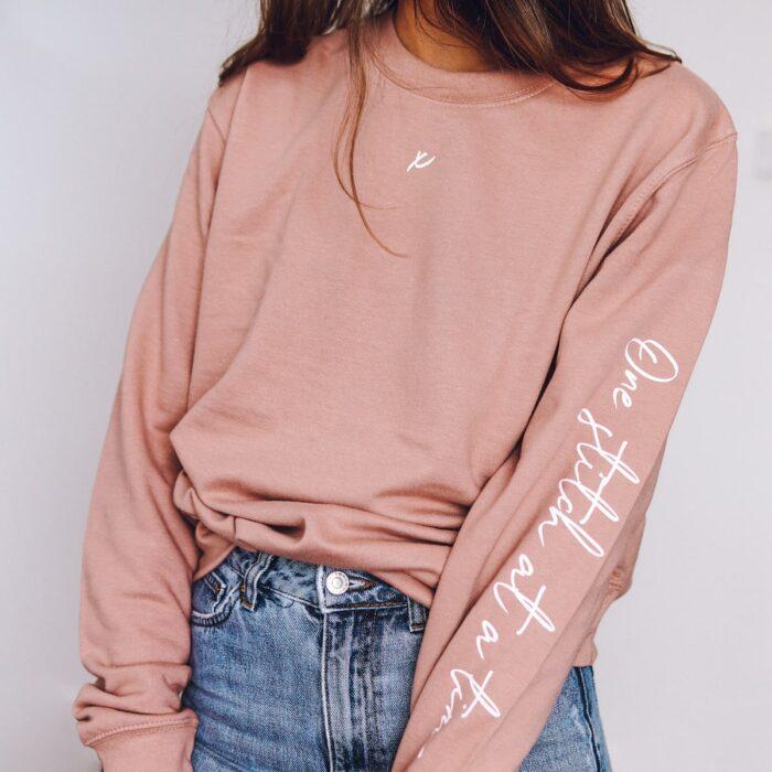one stitch at a time sweatshirt