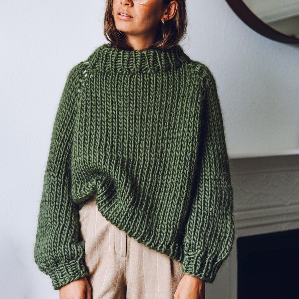 Roll up Knit down Jumper - Knitting Pattern - Lauren Aston ...