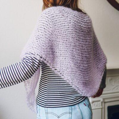 mini mohair shawl