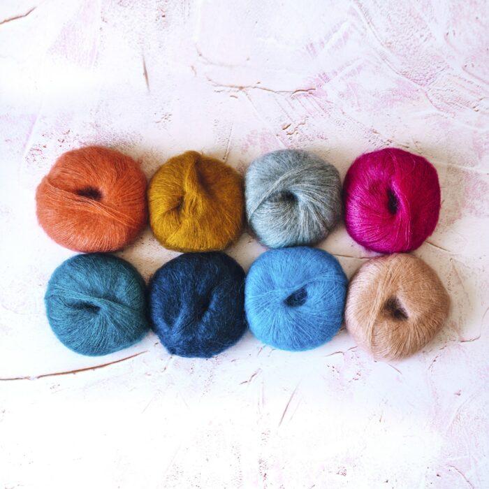 mohair yarn bundle