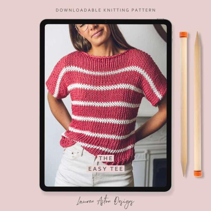 Easy Tee Knitting Pattern