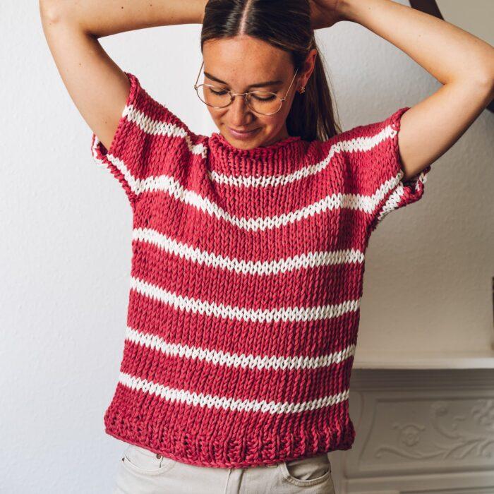 Big cotton yarn easy tee
