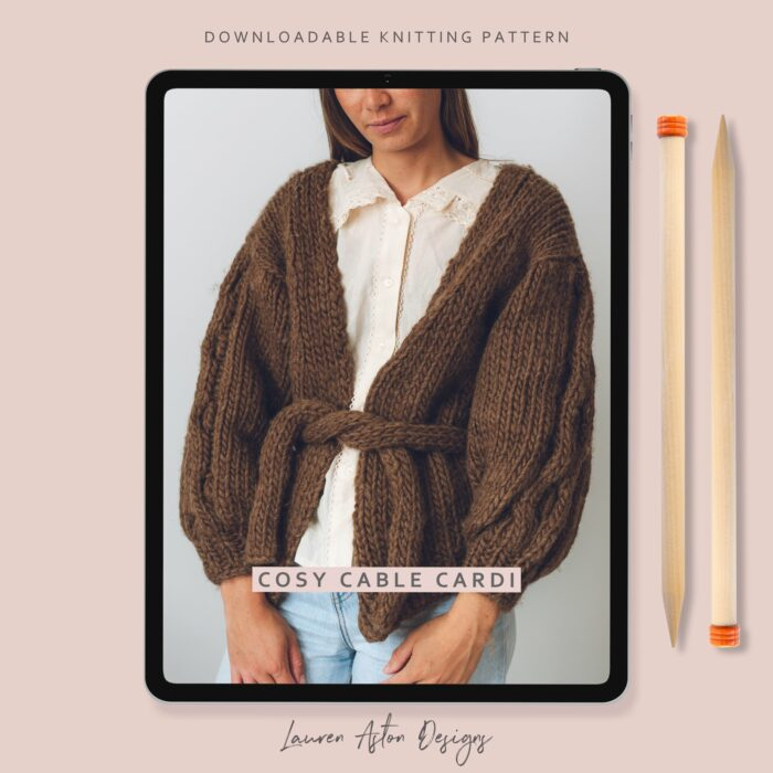 cosy cable cardi