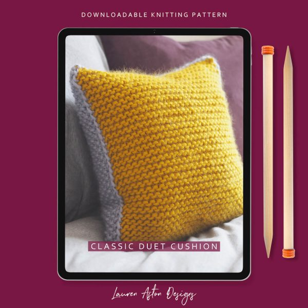 Duet Cushion Knitting Pattern